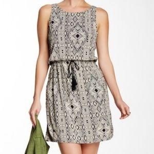 LUCKY BRAND tassel waist tie dress with pockets